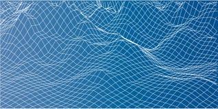 paisaje de 3D Wireframe Vector Imagenes de archivo
