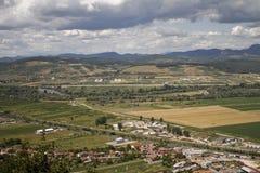 Paisaje de Deva-Hunedoara Foto de archivo