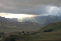 Paisaje de Drakensberg imagenes de archivo