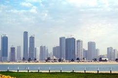 Paisaje de Dubai Imágenes de archivo libres de regalías