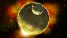 Paisaje de Exoplanets bucle almacen de video