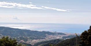 Paisaje de Genoa City Camogli, Italia imagen de archivo libre de regalías
