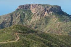Paisaje de Gomera del La, el La Fortaleza, islas Canarias de la altiplanicie, Foto de archivo
