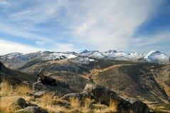 Paisaje de Gredos con fauna Foto de archivo