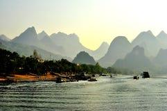 Paisaje 004 de Guilin Foto de archivo libre de regalías