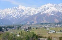 Paisaje de Hakuba en Nagano, Japón Imagen de archivo libre de regalías