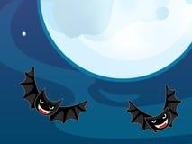 Paisaje de Halloween de la historieta Imagen de archivo