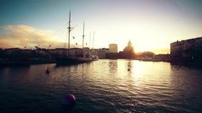 Paisaje de Helsinki almacen de metraje de vídeo