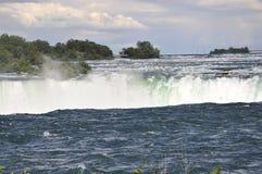Paisaje de herradura aéreo de Niagara Falls del lado canadiense Imagen de archivo