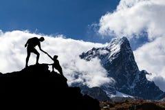 Paisaje de Himalaya en Nepal Fotografía de archivo