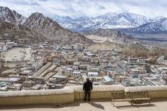 Paisaje de Himalaya de Leh Ladahk la India imagen de archivo libre de regalías