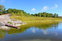 Paisaje de Iowa del lago Saylorville imagenes de archivo