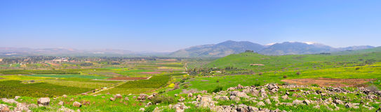Paisaje de Israel Fotografía de archivo libre de regalías