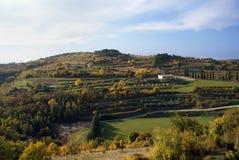 Paisaje de Istrian foto de archivo libre de regalías