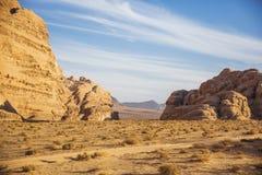 Paisaje de Jordania Desierto de Wadi Ram fotos de archivo libres de regalías