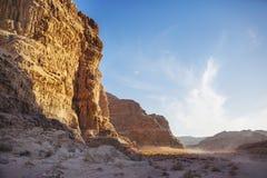 Paisaje de Jordania Desierto de Wadi Ram foto de archivo libre de regalías