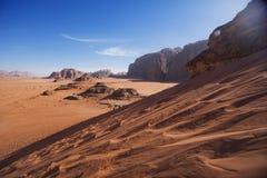 Paisaje de Jordania Duna en el desierto de Wadi Ram foto de archivo libre de regalías