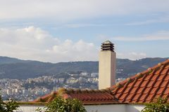 Paisaje de Kavala, Grecia Imagenes de archivo