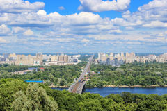 Paisaje de Kiev en verano Imagen de archivo libre de regalías