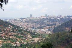 Paisaje de Kigali fotografía de archivo