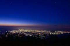 Paisaje de Kofu y del Mt fuji fotos de archivo