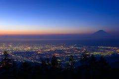Paisaje de Kofu y del Mt fuji foto de archivo libre de regalías