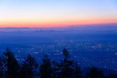Paisaje de Kofu y del Mt fuji fotos de archivo libres de regalías