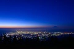 Paisaje de Kofu y del Mt fuji imagen de archivo libre de regalías