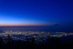 Paisaje de Kofu y del Mt fuji Fotografía de archivo