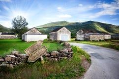 Paisaje de la aldea Imagenes de archivo