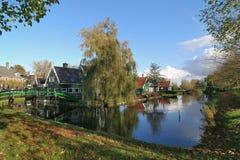 Paisaje de la aldea de Amsterdam Imagen de archivo libre de regalías
