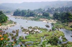 Paisaje de la aldea de Sanya Fotos de archivo libres de regalías