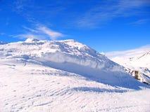 Paisaje de la alta col rizada en invierno Fotos de archivo