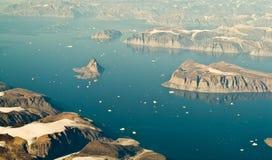 Paisaje de la antena de Groenlandia Imagen de archivo