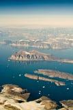 Paisaje de la antena de Groenlandia Foto de archivo