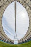 Paisaje de la arena del tejado del campo del estadio de fútbol Imagenes de archivo
