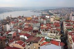 Paisaje de la azotea de Estambul Fotografía de archivo