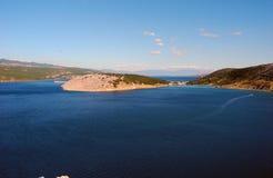 Paisaje de la bahía de Kvarner Imagen de archivo libre de regalías
