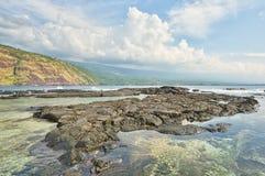 Paisaje de la bahía de Kealakekua Fotos de archivo libres de regalías