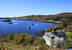 Bahía de Badcall, Escocia Imagen de archivo libre de regalías