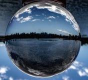 Paisaje de la bola de cristal fotografía de archivo