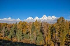 Paisaje de la caída de Teton Imagen de archivo libre de regalías