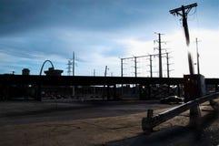 Paisaje de la calle de StLouis en Missouri, América St. Louis es una ciudad situada en el medio de los E.E.U.U. fotografía de archivo libre de regalías