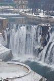 paisaje de la cascada del invierno Fotografía de archivo libre de regalías