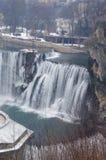paisaje de la cascada del invierno Fotos de archivo