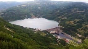 Paisaje de la central hidroeléctrico almacen de video