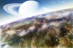 Paisaje de la ciencia ficción Foto de archivo