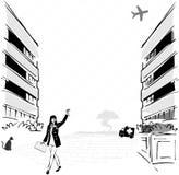 Paisaje de la ciudad ilustración del vector