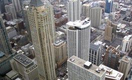 Paisaje de la ciudad de Chicago, área residencial foto de archivo libre de regalías