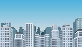 Paisaje de la ciudad con los edificios